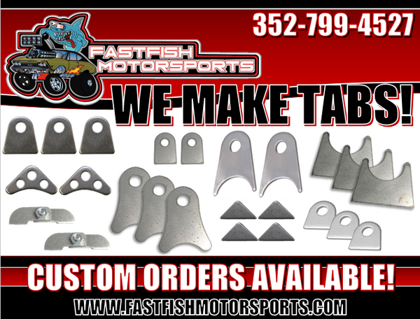 Fastfish Motorsports Now Makes Tabs!! Custom Orders Availabl  for Sale $1,234