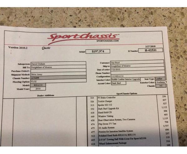 FREIGHTLINER SPORTCHASSIS BIG BLOCK 450HP HAULER - 6K MILES  for Sale $137,500