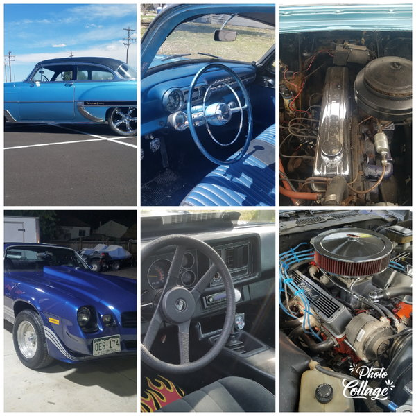 1954 Belair and 1971 Z-28 Camaro trade/sell