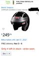 Simpson Car Racing Helmet  for sale $100