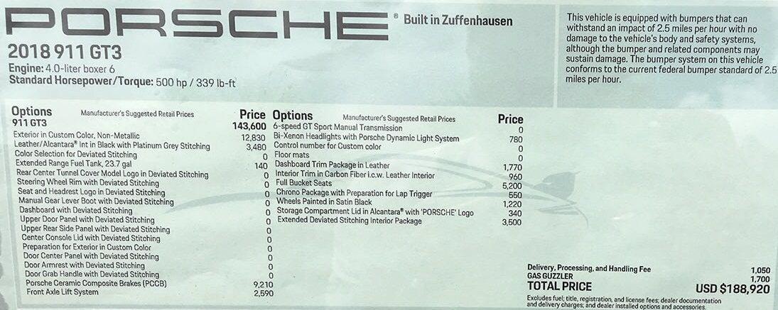2018 GT3 Manual - PTS Birch Green with CXX - Rennlist