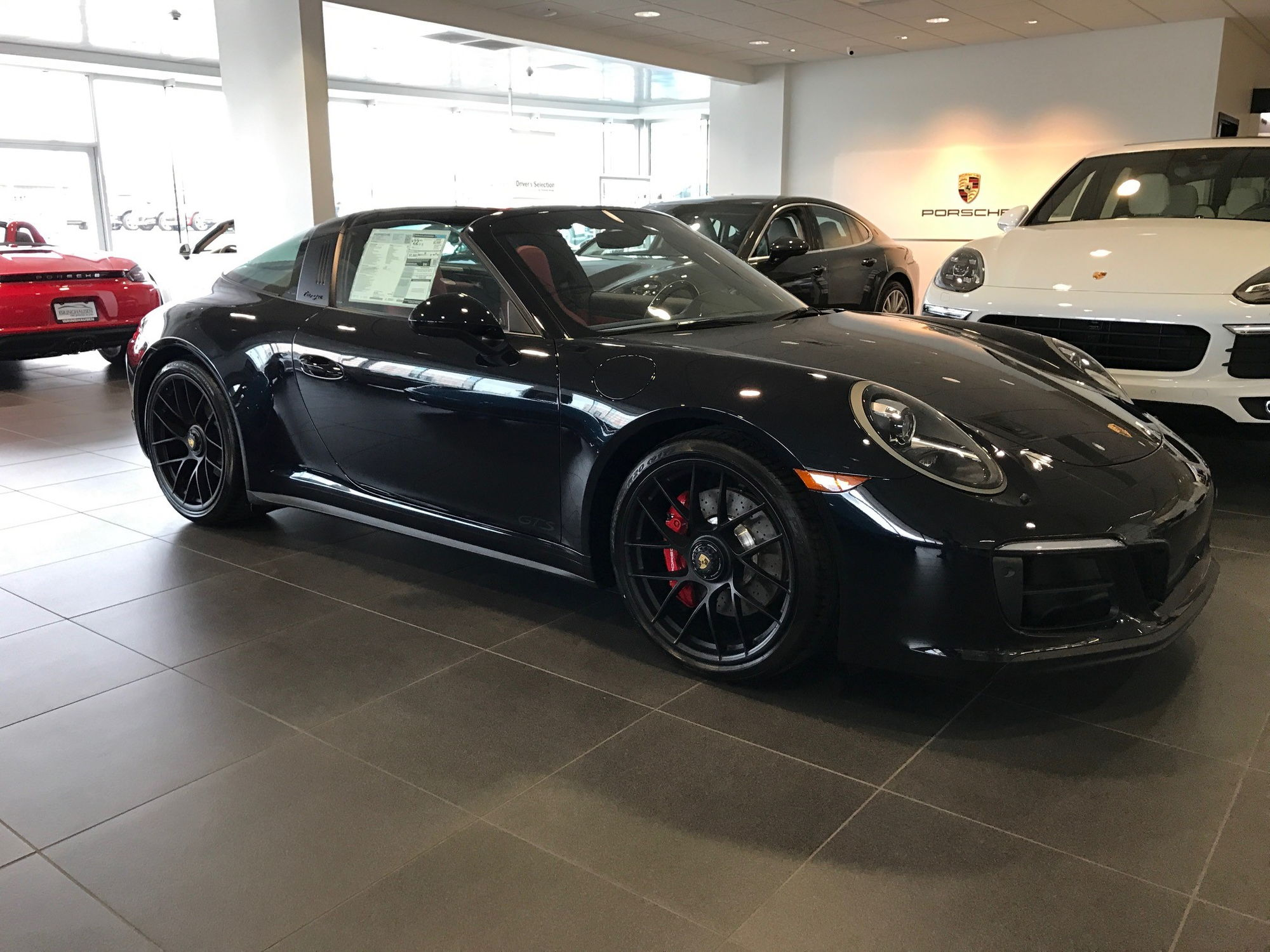Dealer Inventory 2017 Porsche 911 Targa 4 GTS - Black/Red with PDK on 2017 porsche boxster, 2017 porsche gt3, 2017 ford gt targa, 2017 porsche cayman, 2017 porsche cayenne,