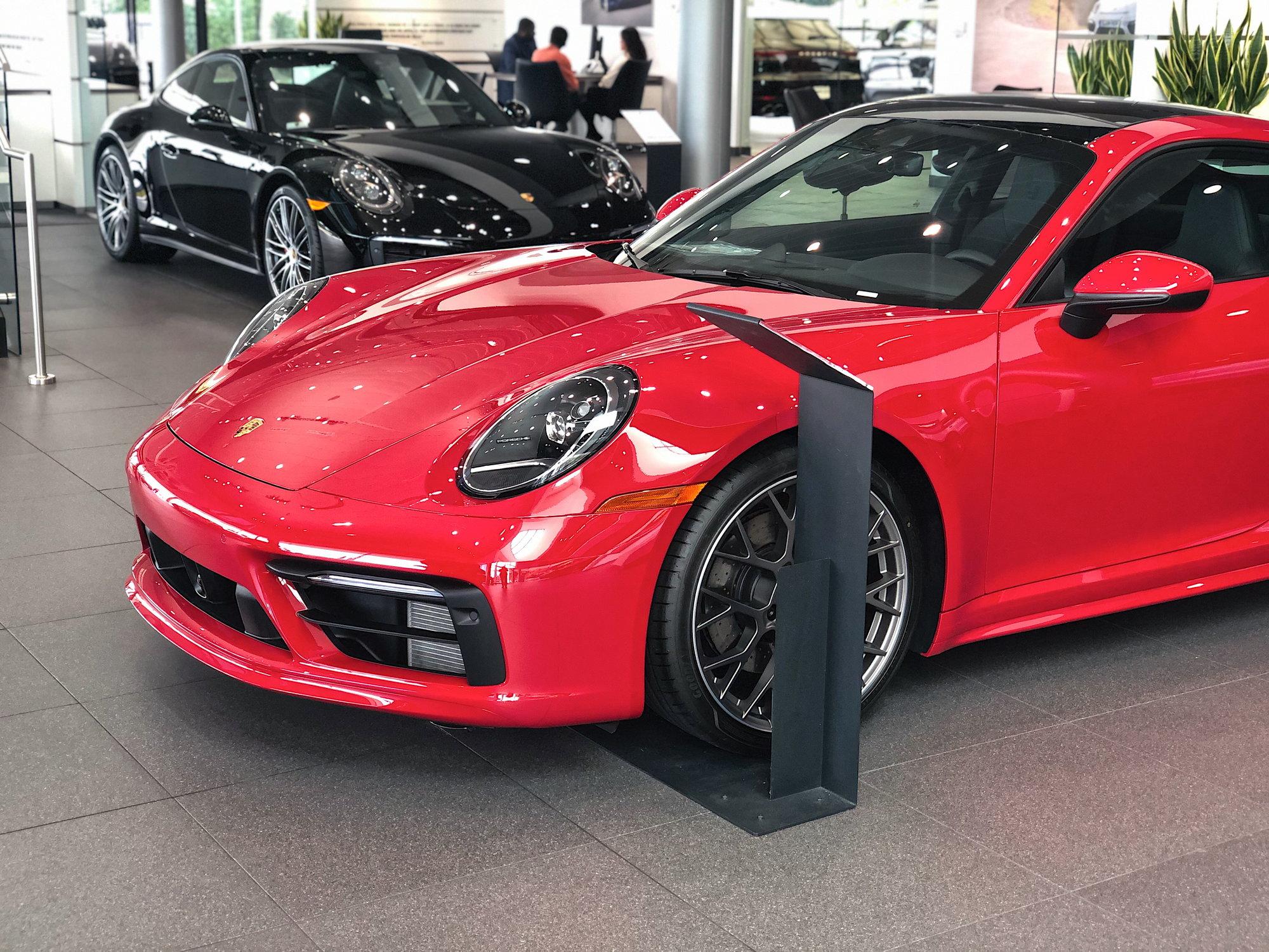 Porsche 992 Carrera S Carmine Red Sport Design Package MUST