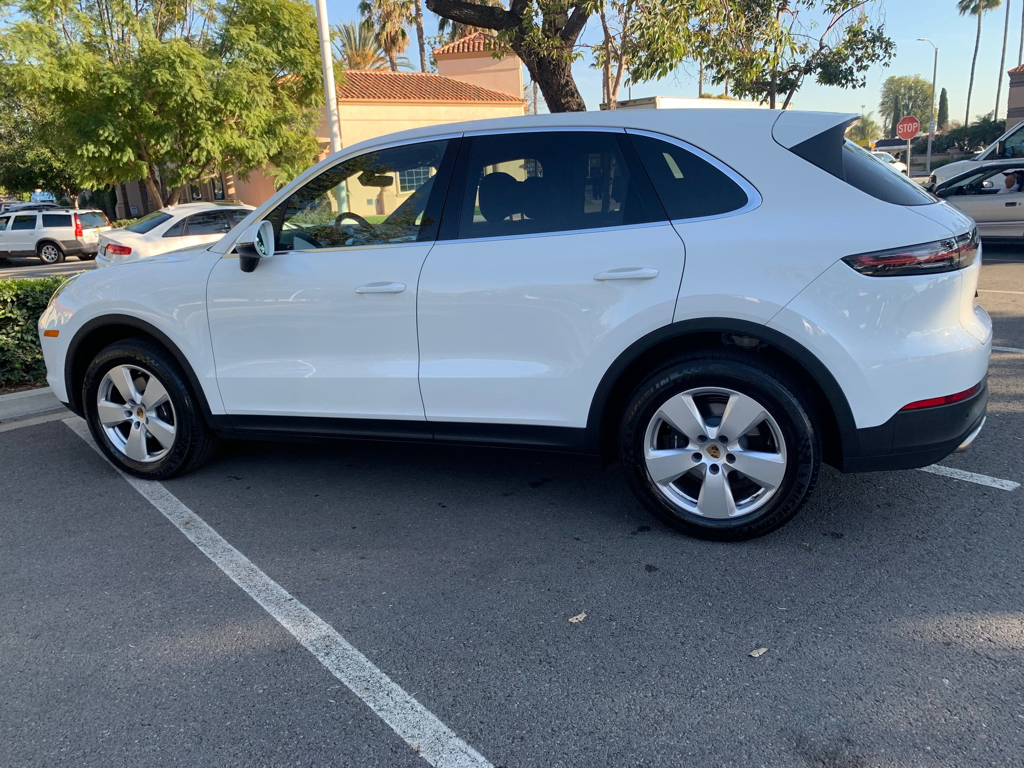 2020 Porsche Cayenne White With Black Interior 1 500 Miles Rennlist Porsche Discussion Forums
