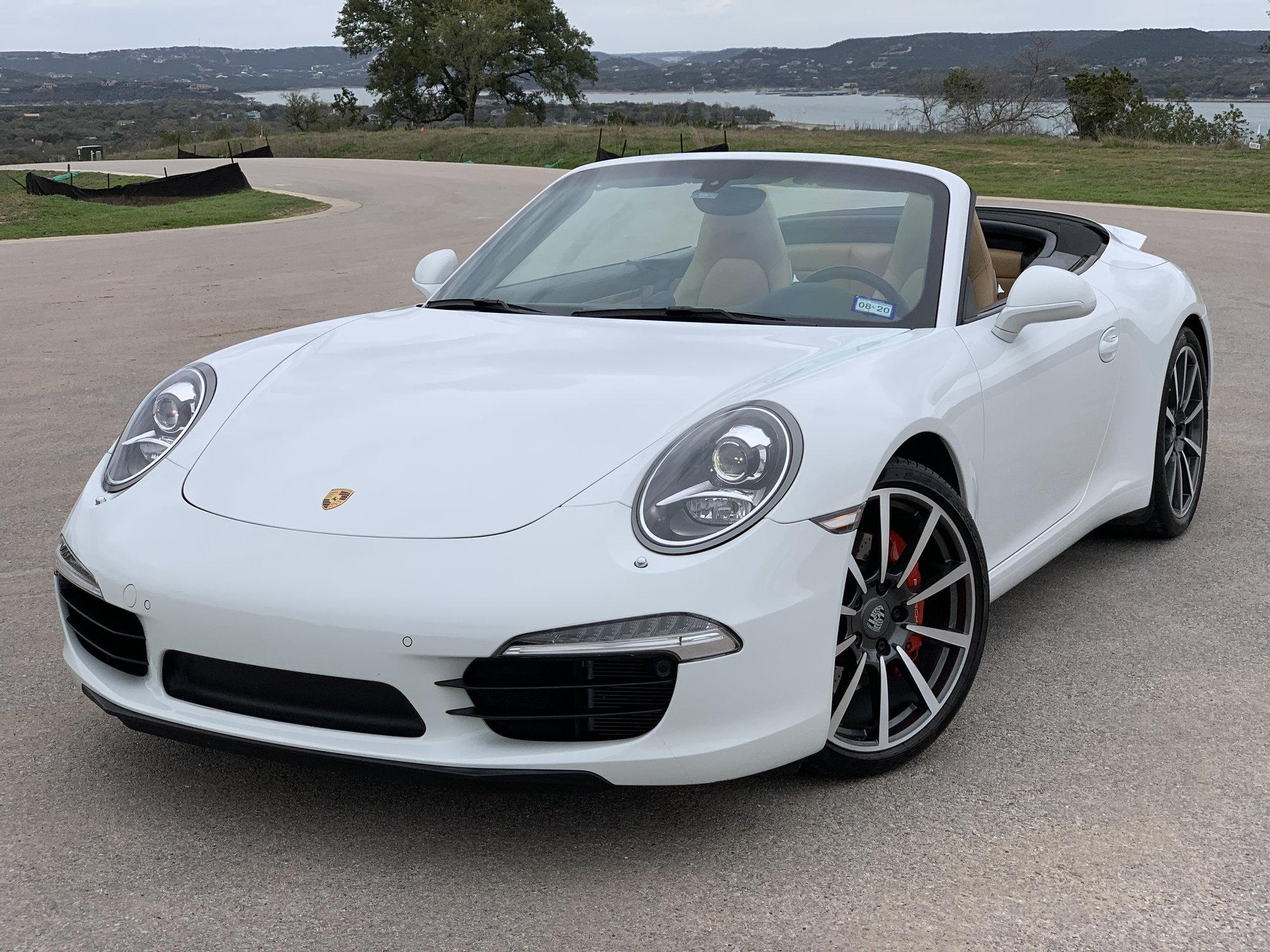 2013 Porsche 911 Carrera S Cabriolet White Exterior Beige Black Interior 27k Mi Rennlist Porsche Discussion Forums