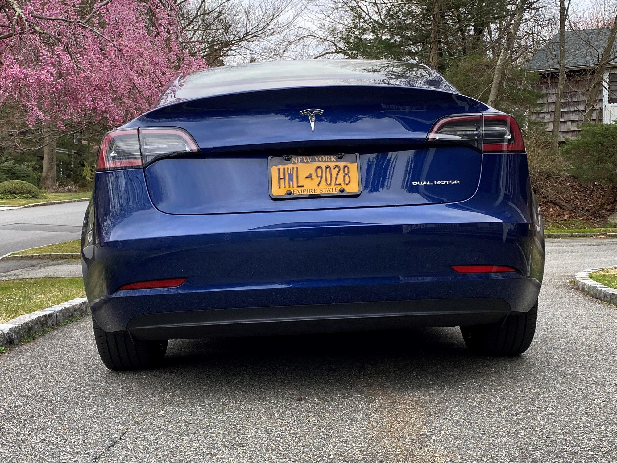 2019 Tesla Model 3 Blue/White - Rennlist - Porsche ...