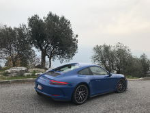 Above Lake Garda, northern Italy (and wearing winter tires)