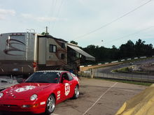 Road Atlanta - Turn One - roughing it at the track...