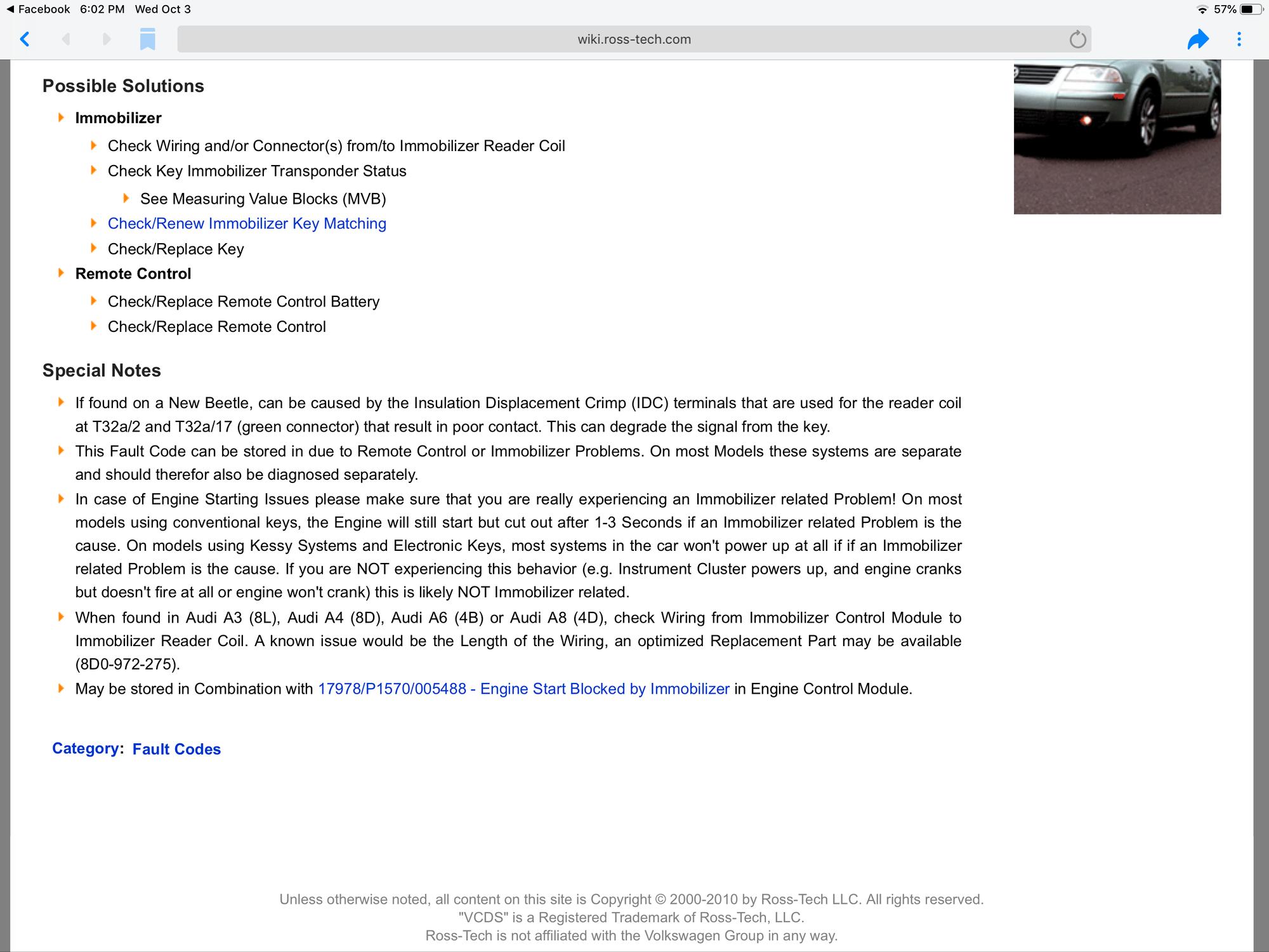 Immobilizer Active - 6SpeedOnline - Porsche Forum and Luxury
