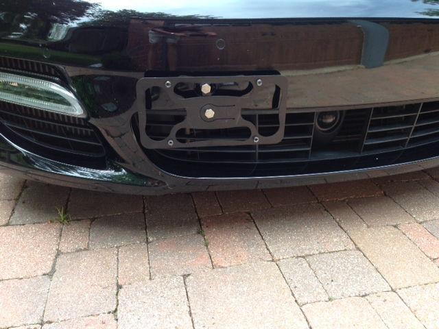 Tow Hook License Plate 6speedonline Porsche Forum And