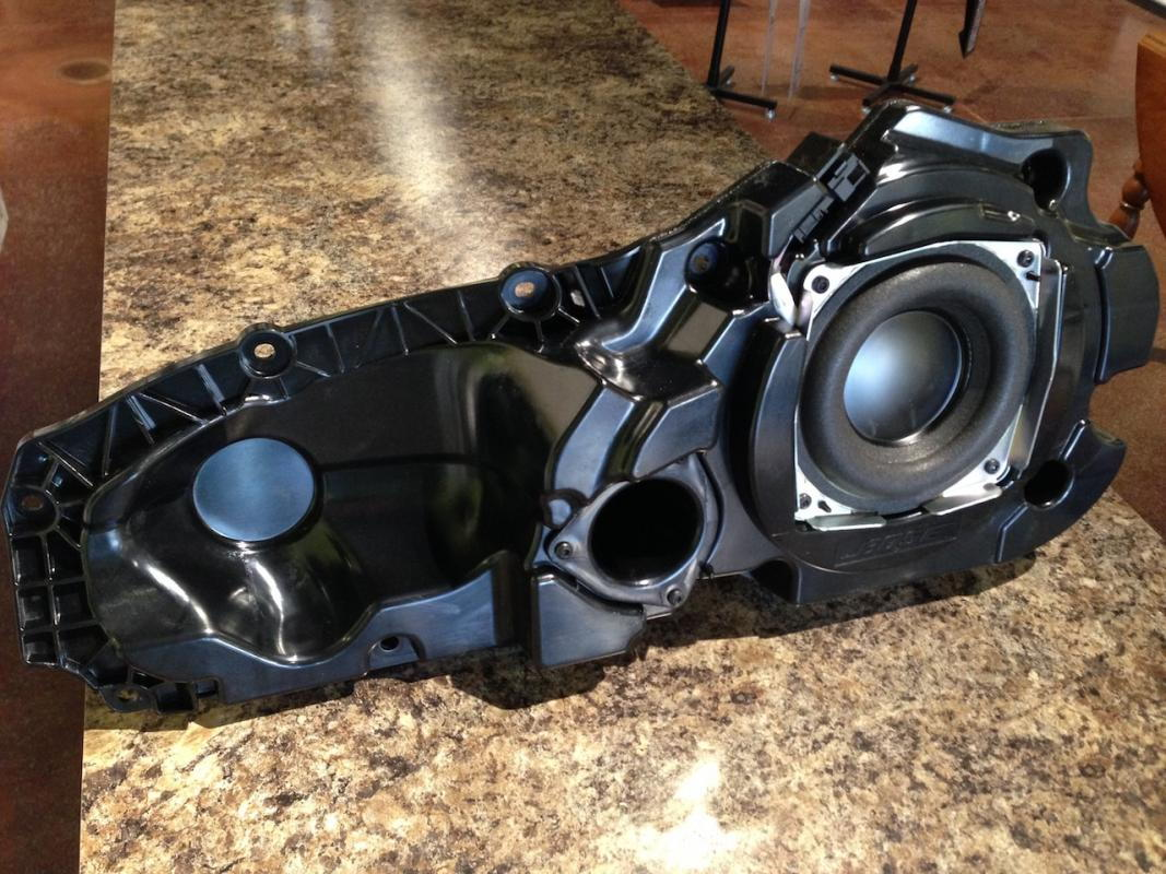 2012 A6 Audio Upgrade Audiworld Forums Bose Amplifier Wiring Diagram For Bazooka Subwoofer When You Remove The Midbass Enclosure It Leaves A Giant Hole In Door That Needs To Be Filled Before Can Install Your Aftermarket Speaker