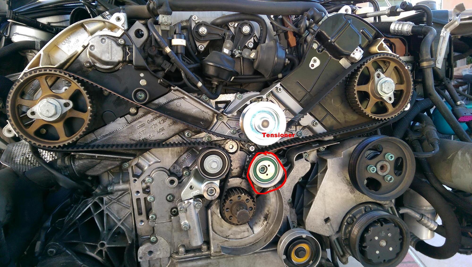 Enjoyable 04 Audi Timing Belt Tensioning Basic Electronics Wiring Diagram Wiring Digital Resources Skatpmognl