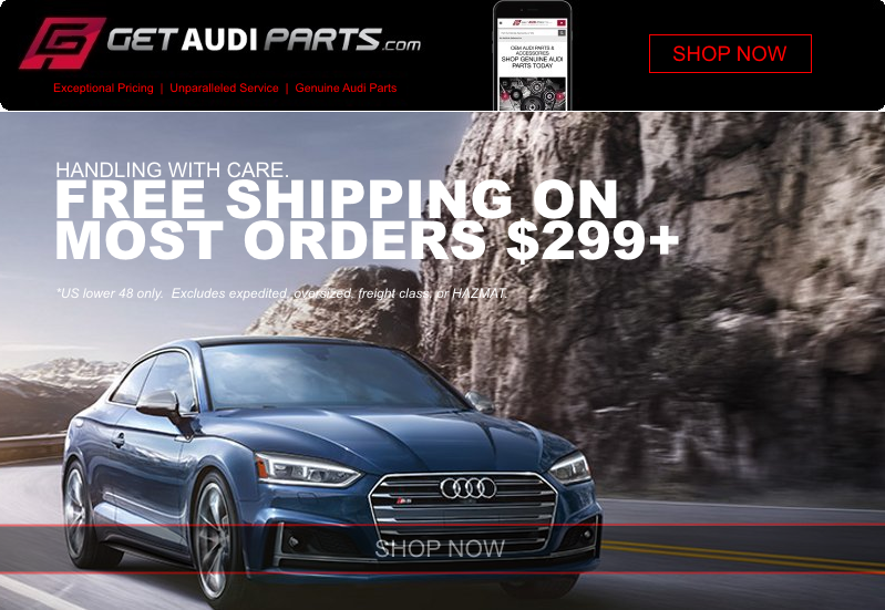 GetAudipartscom Genuine OEM Audi Parts FREE SHIPPING On Most - Oem audi parts