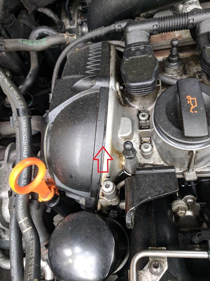 2009 2 0 Tfsi Oil Leak At The Top Of The Engine Vw Vortex Volkswagen Forum
