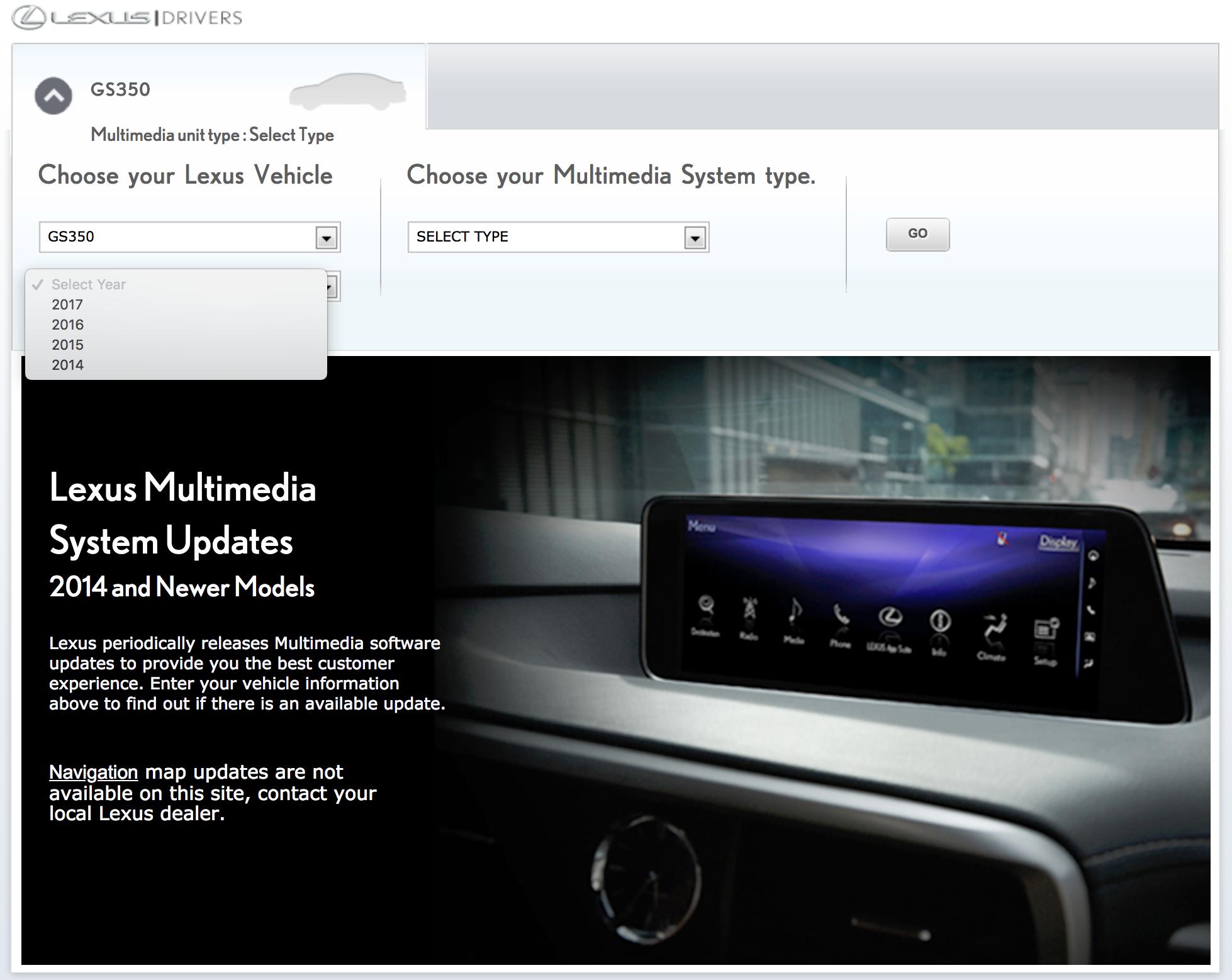 2014 lexus gs 350 navigation update
