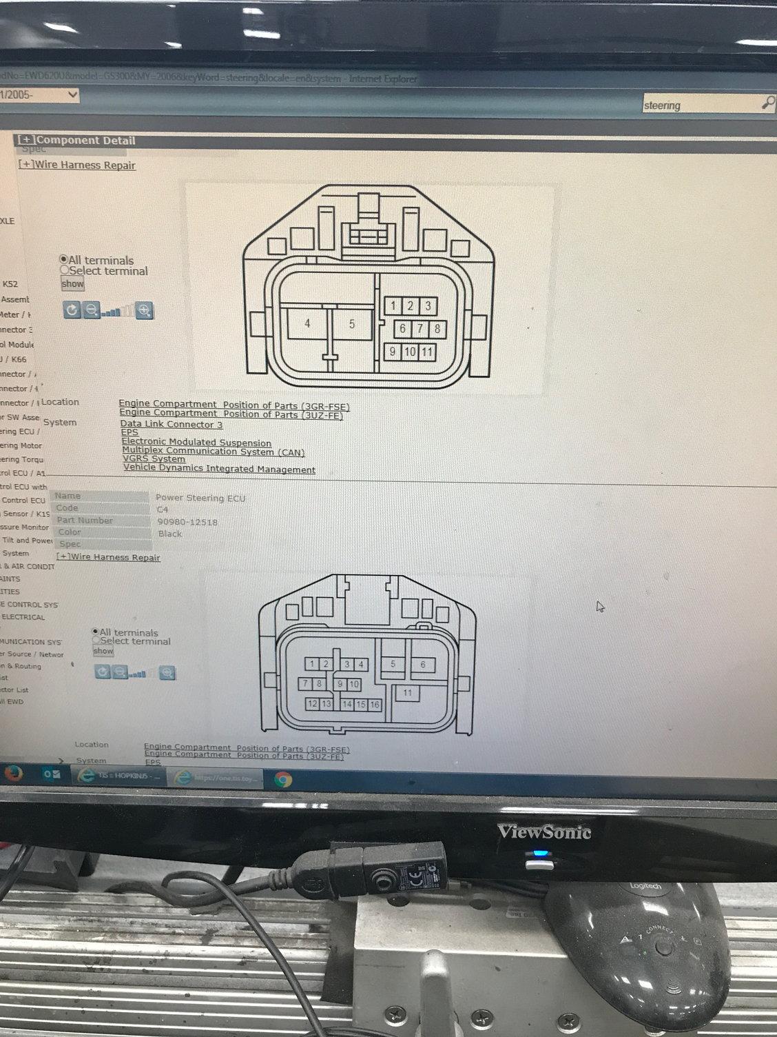 Power Steering Ecu Wiring Diagram Help  Asap