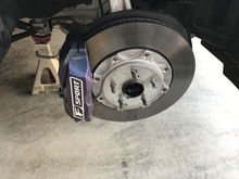 After painting my wife made me an F-Sport vinyl logo for the calipers. She's into scrap booking and has a small vinyl plotter so that comes in handy for custom stickers!