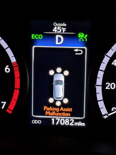 How to reset parking sensor malfunction? - ClubLexus - Lexus