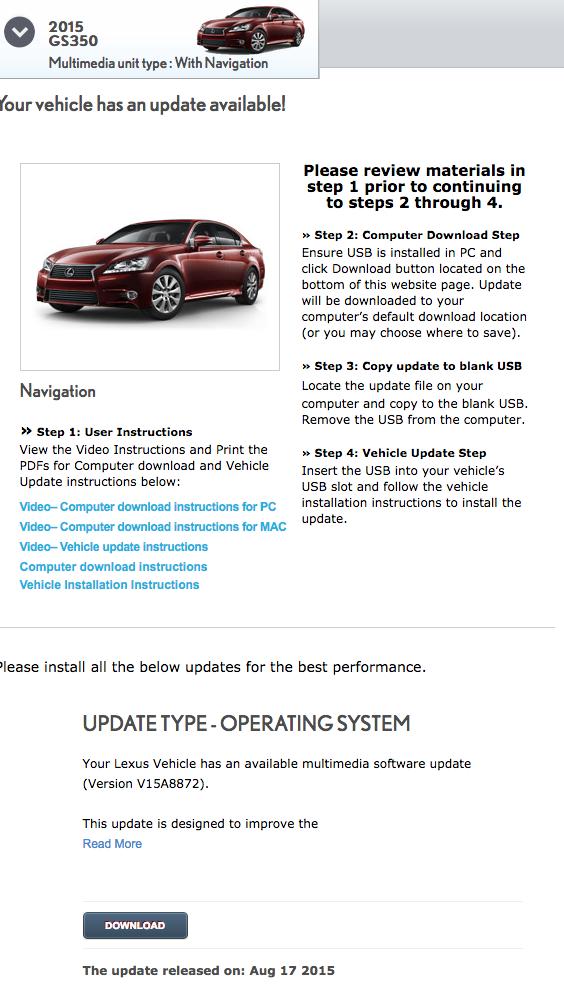 Navi Update to V15A8910 skip the dealer - ClubLexus - Lexus Forum