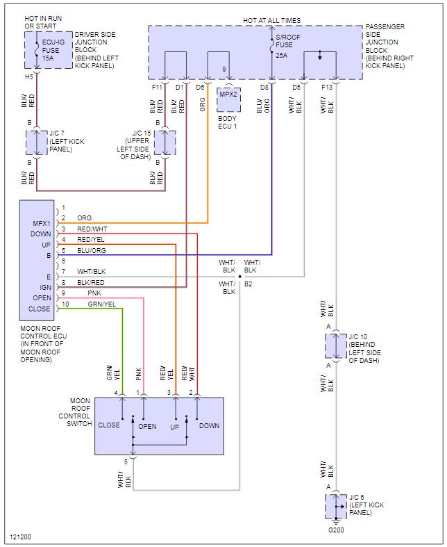Sunroof Wiring Diagram - Clublexus