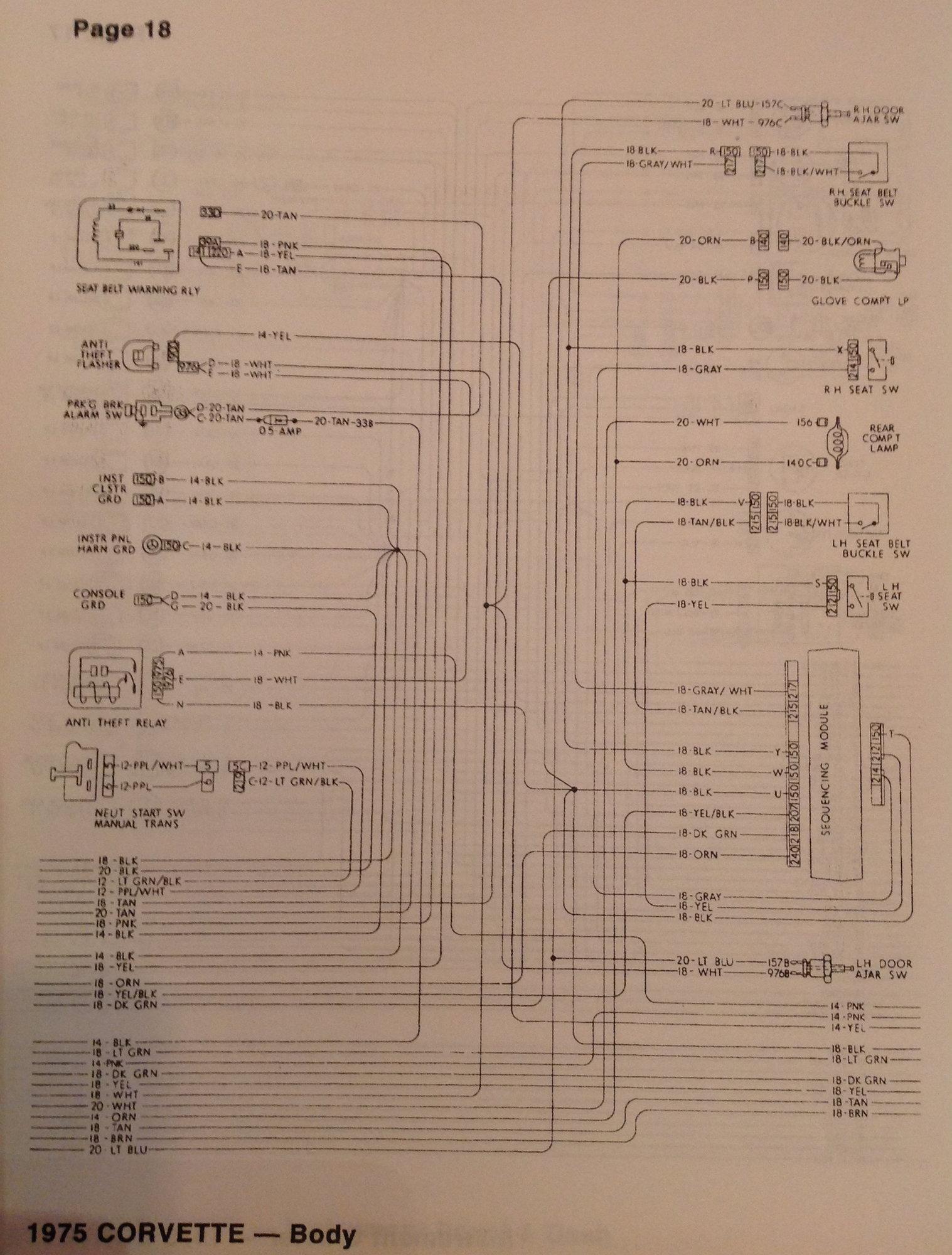 1975 wiring diagram - CorvetteForum - Chevrolet Corvette ...