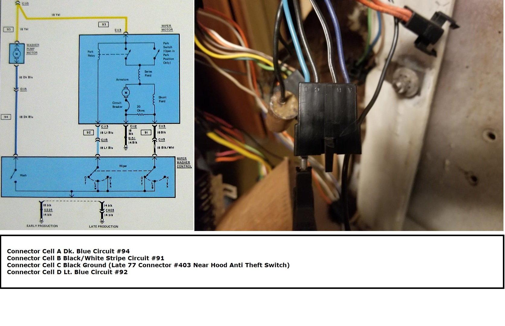 Need 77 Wiper Switch Conversion Help - Corvetteforum
