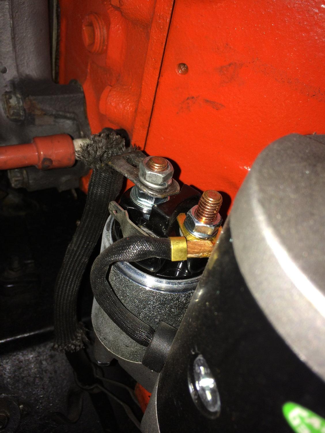 gm mini starter wiring starter aftermarket starter wiring question corvetteforum chevrolet  aftermarket starter wiring question