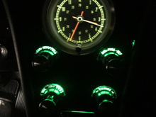 Green really brightened up my center dash.  I used regular white BA9s on the gauge cluster.  It really makes a big difference.
