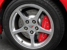 Front rotors and caliper cover