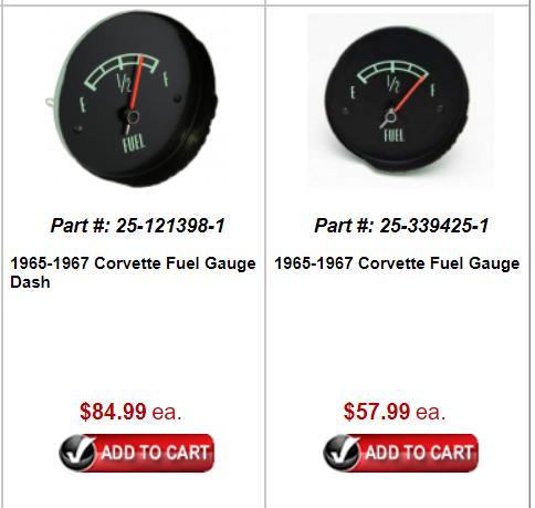 C2 Corvette Fuel Gauge NOS 1965-1967