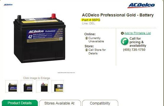 How Old Is My Car Battery Ac Delco