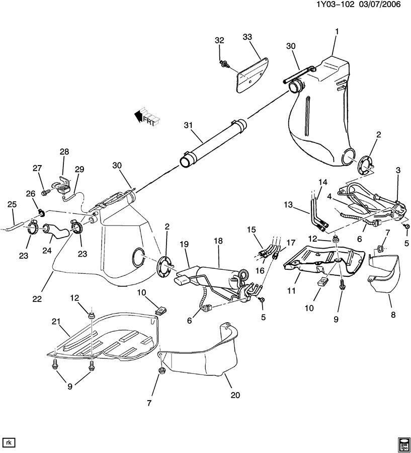where is the fuel tank pressure sensor on my 2001  - corvetteforum