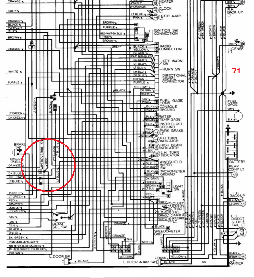1972-1973 wiper wiring? - CorvetteForum - Chevrolet ...