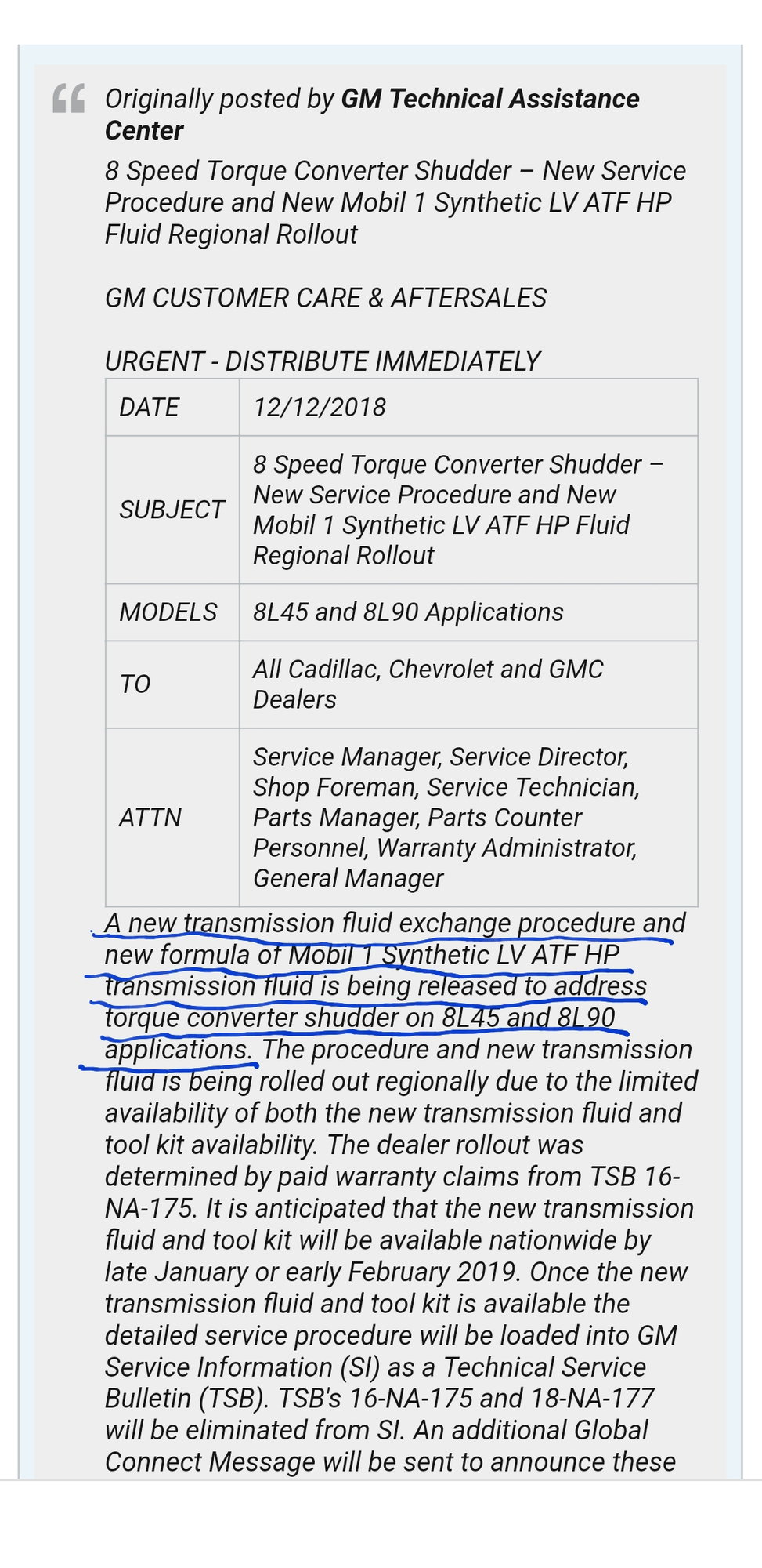 New A8 transmission fluid - Page 2 - CorvetteForum - Chevrolet