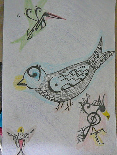 Our daughter, who loves all creatures, big and small, is talented in art and music!