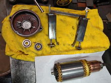 To be reassembled with the new bearing