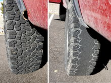 These tires are the exact same age with the same mileage. Guess I can't blame the compound...