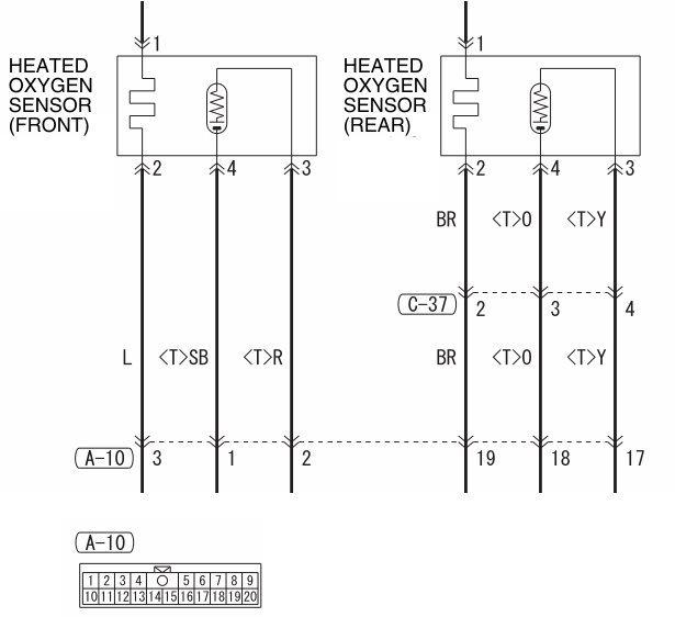 ECU O2 sensor wire? - EvolutionM - Mitsubishi Lancer and ... O Sensor Wiring on