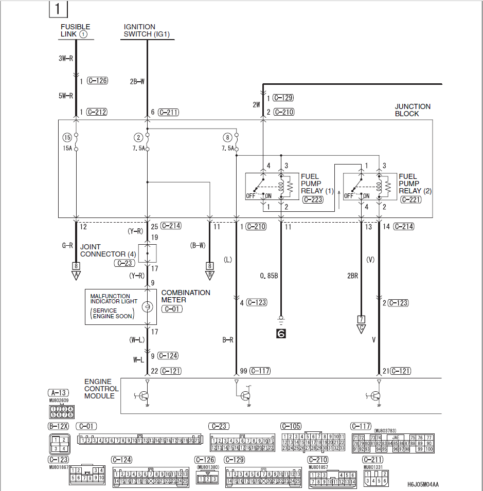 Wiring Diagram Evo 3 : Evo fuel pump wiring diagram images