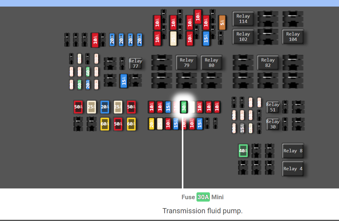 Does Anyones Ford Have 30a Transmission Fluid Pump Fuse - Ford F150 Forum