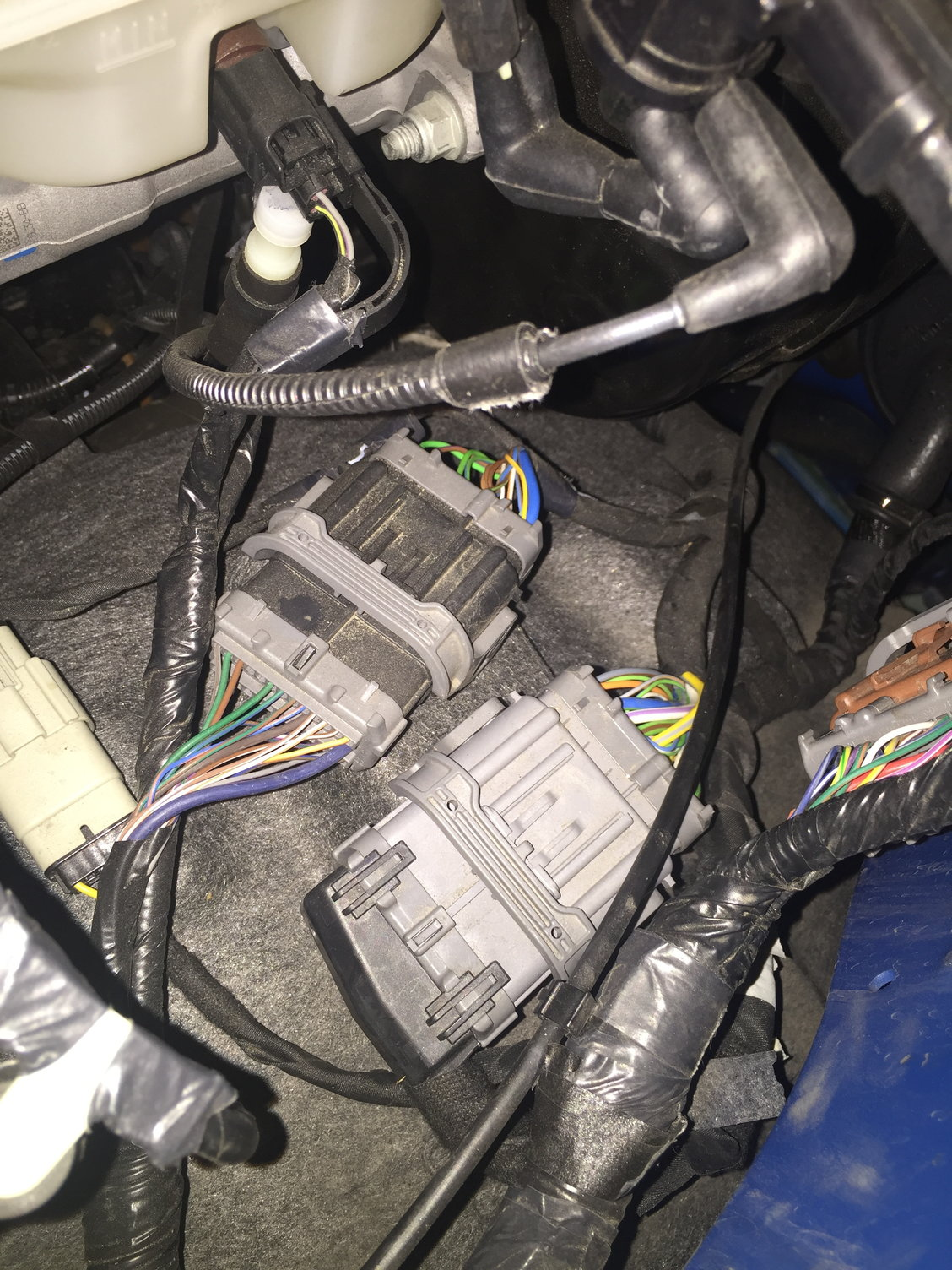 Backup Camera Install Ford F150 Forum Community Of Truck Fans 6 Pin Wiring Harness Diagram Notice The White Green Wire As Well Brown Violet In Picture Below Cap Removed