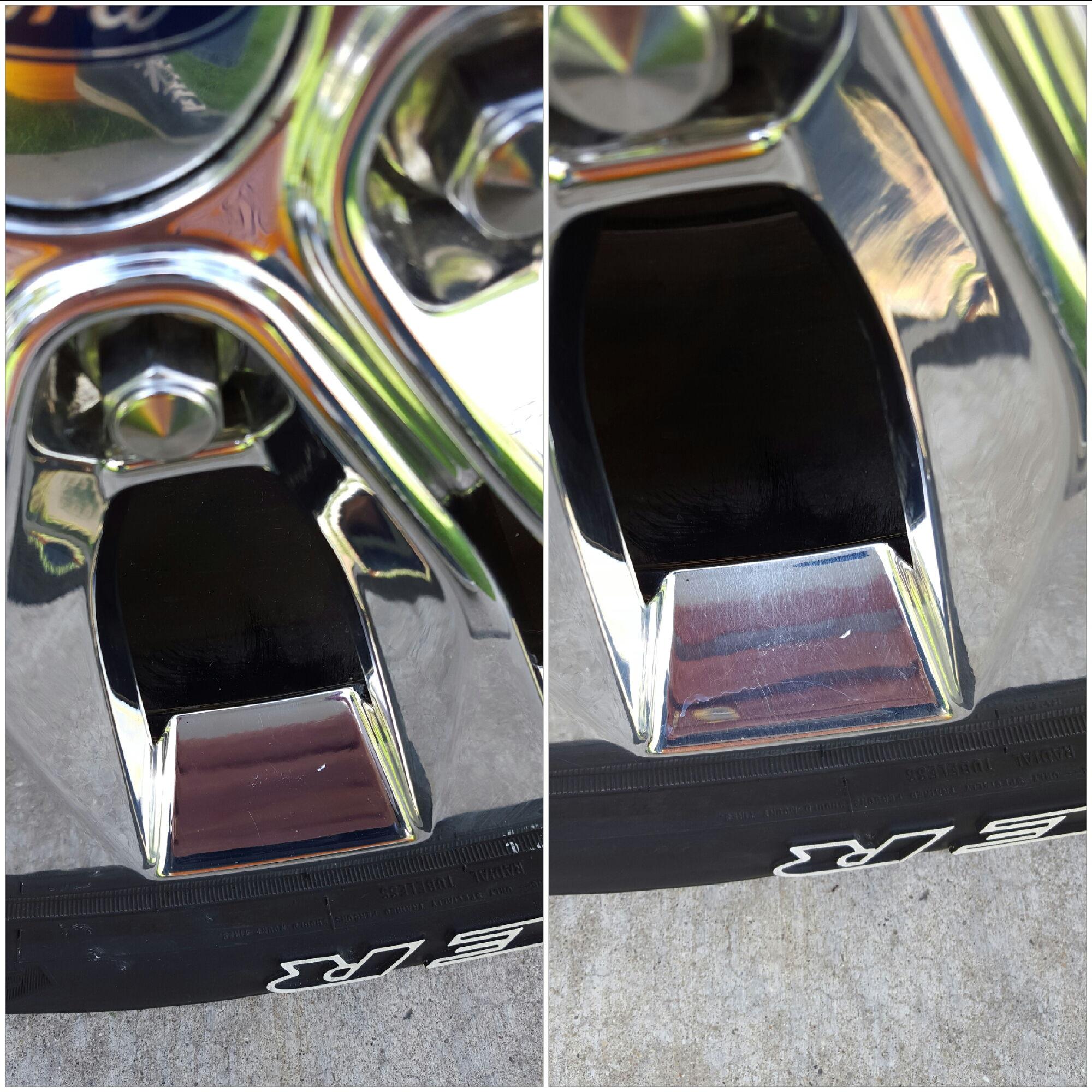 Polishing pvd chrome wheels