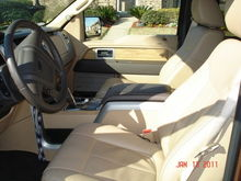 2011 Lariat Interior, center console shifter with the ability to manually shift up or down or hold a gear while towing.