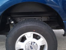 Drivers side rugged wheelwell liner