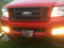 Still daylight, but it's my Parking lights and foglights