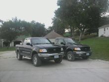 mine on the left, alot of custom work. the right one is my bros. bone stock.