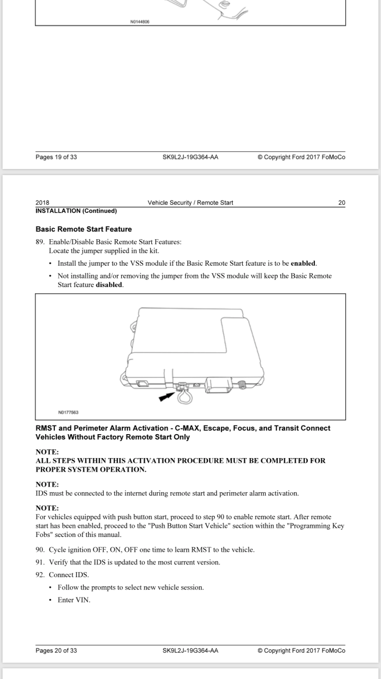 Remote Start Activation with Forscan - Ford F150 Forum - Community