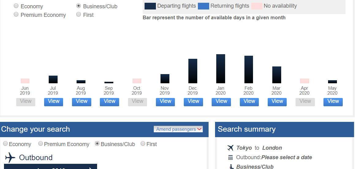 Tokyo-London Availability April 2020 - FlyerTalk Forums