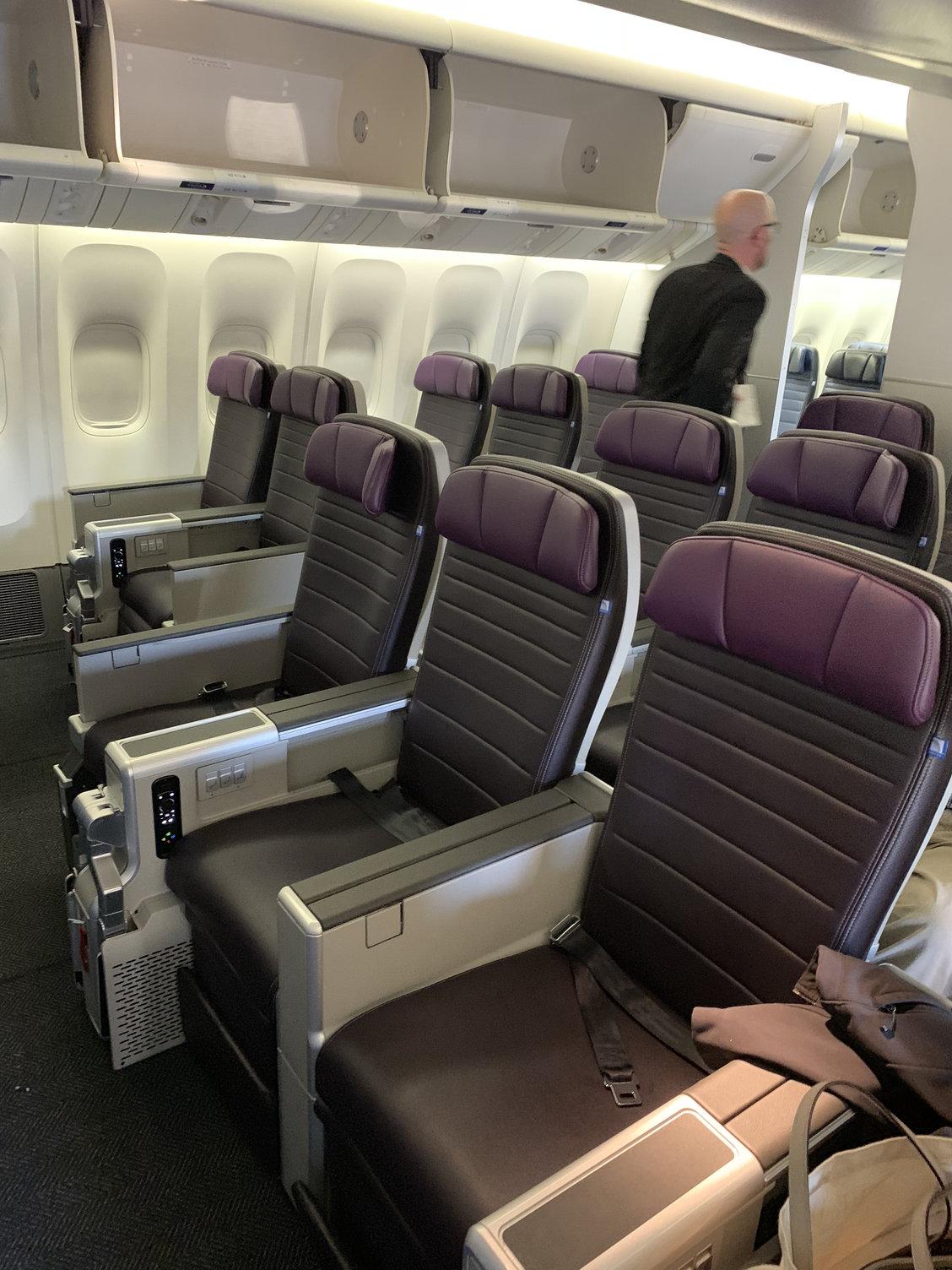 United Airlines Mileage Plus >> Premium Plus (Premium Economy) seats and Experience ...