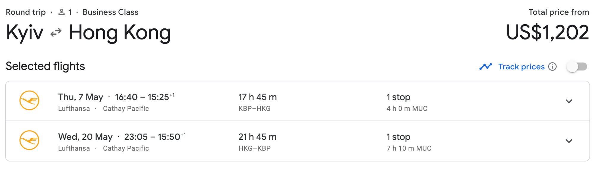 to jfk status kbp flight